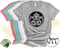 Baby Yoda Star Wars Shirt, Starbucks Galaxy Edge, Mandalorian Tee Men Women Kids
