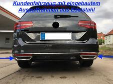 Trapezblenden Auspuffrahmen aus Edelstahl VW Passat B8 3G2 3G5 Limousine Variant