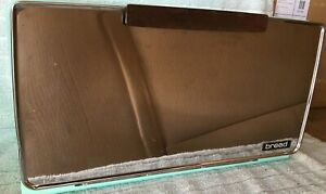 Vintage Mid-Century Lincoln Beautyware Bread Box w/shelf - Refurbished in Aqua