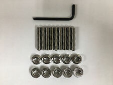 """Ford FE V8 Stainless Steel Valve Cover Stud Kit and Wrench 1.5"""" Long"""