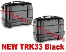 GIVI TREKKER TRK33B + TRK33B TRK33 BLACK  BAULE NERO COPPIA VALIGIE TREKKER 33