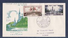 MONACO   enveloppe 1er jour   centenaire des apparitions de Lourdes   PA  1958