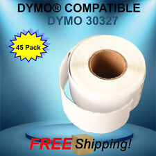 45 Rolls Dymo Compatible 30327 White Rectangular Labels 450 400 Duo Twin Turbo
