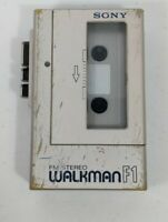 SONY WM-F1 Cassette Player Walkman, Silver! For Parts or Repair RADIO WORKS ONLY