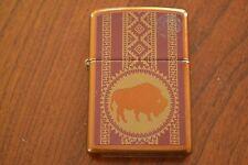 ZIPPO Lighter, Standing Buffalo, Toffee, Sealed, M769