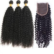 """Peruano Virgin Hair Jerry Cura 3 Paquetes 66cm28"""" 30"""" With 55.9cm Cierre de"""