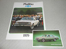 1979 CHEVROLET MALIBU BROCHURE / CATALOG + ORIGINAL 79 CHEVY MALIBU POSTCARD!