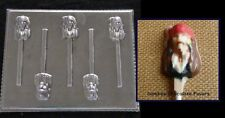 PIRATE FACE HEAD Jack Sparrow Caribbean Chocolate Soap Candy Mold