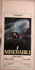 Locandina I MISERABILI 1984 LINO VENTURA, MICHEL BOUQUET, EVELYNE BOUIX