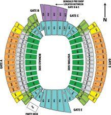2 CINCINNATI BENGALS PSL COA SEAT LICENSE SEC134 ROW 21