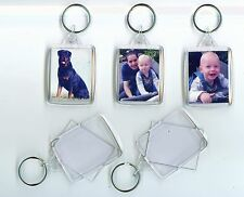 10 DIY scratch free high quality large blank photo keyrings with connectors