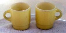 FIRE KING Stackable mug 2 Yellow  COFFEE CUPS  USA