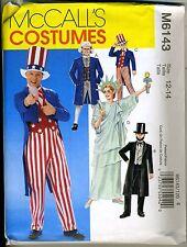 Patriotic Costumes - Liberty, Uncle Sam - Child 12-14
