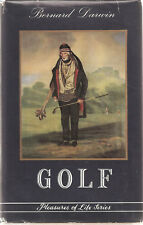 GOLF-PLEASURES OF LIFE  B. DARWIN 1ST W/DUSTCOVER 1954  NICE COLLECTOR CONDITION