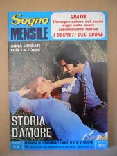 SOGNO Mensile n°93 1972 Fotoromanzo Anni 70 Anna Liberati Luis La Torre [G581]