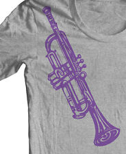 TRUMPET MUSIC INSTRUMENT T shirt Jazz Miles Davis Coltrane Graphic Tee Original