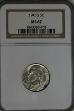 1945-S  NGC MS67     Jefferson Silver Nickel 5c