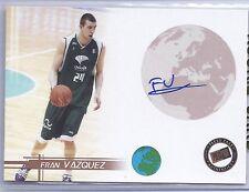 2005 Press Pass Basketball Fran Vazquez Unicaja Malaga Autograph Card