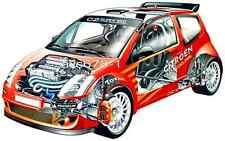 Citroen C2 Super 1600 Rallye / 2003 - Bild Schnittzeichnung