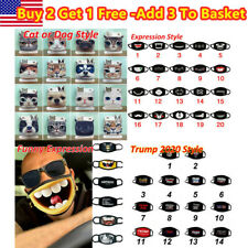 Unisex Funny Face Mask 3D Print Funny Expression Face Cover Masquerade US