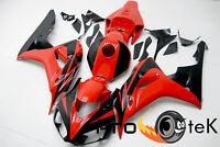 For 2006-2007 Honda CBR1000RR Red Black Injection ABS Plastic Fairings Bodywork