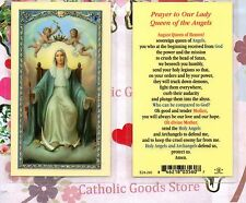 Prayer to Our Lady Queen of The Angels - Laminated Holy Card