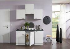 Juniorküche Pantryküche Miniküche Küchenzeile Modell Lagos  Front Glanz weiss