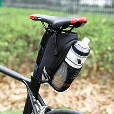Bicycle Saddle Bag Pannier Bike Seat Bag Pouch Rear Tail Storage Bottle Holder