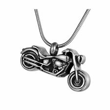 Motorcycle Cremation Urn Pendant Necklace - Coco Park Punk Personalized...