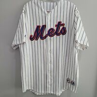 Rare VTG Majestic MLB New York Mets Cliff Floyd 30 Pinstripe Jersey Mens XL