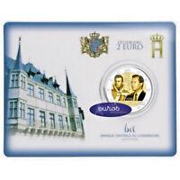 Coincard 2 euros BU Luxembourg 2018 - Grand Duc Guillame Ier - Mintmark St Selve