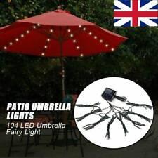 More details for 104led garden solar umbrella fairy light patio table parasol outdoor light hot