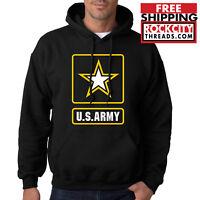ARMY LOGO HOODIE United States Military Usarmy Ranger US Hooded Sweatshirt USA