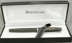 Rare New York Yankees Waterford Grey & Chrome Rollerball Pen - Mint - 2015