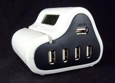 4 Port 2.0 USB Hub w/Digital Clock & Portable Desktop Letter Opener