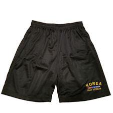 KOREA USAF AIR FORCE VETERAN Men Athletic Jersey Mesh Black Basketball Shorts