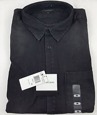 New Calvin Klein Men's Button Down Jean Shirt Black Rinse US Size L Large NWT