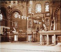 Costantinopoli Moschea Turchia Placca Da Lente C10 Stereo Positive Vintage