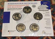 5 monete da 2 Euro Germania 2008 Germany Германия San Michele Amburgo  A D F G J