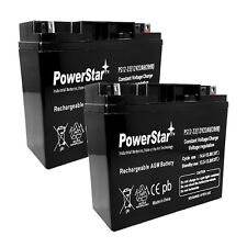 2 PACK UNIVERSAL UB12220 T4 40696 12V 22AH BATTERY POWERSTAR REPLACEMENT