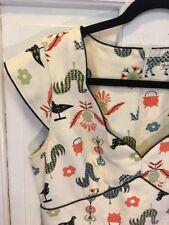 16. Anthropologie Nanette Lepore RARE Farm animals Shift Dress, Madmen style 6