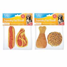 premi per cani Scricchiolante FAST FOOD giocattolo cane Animali Cibo 2 pezzi