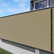 5 FT tall 170GSM Fence Privacy Screen Shade Cover Mesh Garden Padio-Sand