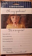 8 invitations It's a surprise Oh my goodness party girl mum birthday USA girl