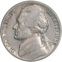 1939 S Jefferson Nickel Fine FN