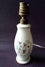 Adorable petit pied de lampe en opaline blanche décor Paris Art et Amour