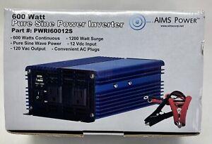 600/1200 Watt Pure Sine Inverter 12-Volt DC to 120-Volt AC ETL Listed to UL 458