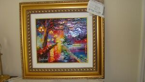 """DANIEL WALL HAND EMBELLISHED GICLEE TITLED """"MARVELOUS STROLL"""" LIMITED EDITION"""