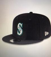 NEW ERA 9FIFTY Seattle Mariners MLB Snapback Hat - Cap Adult Black