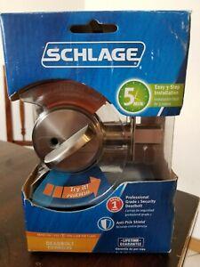 Schlage B60N V 619 Keyed One Side in Satin Nickel New